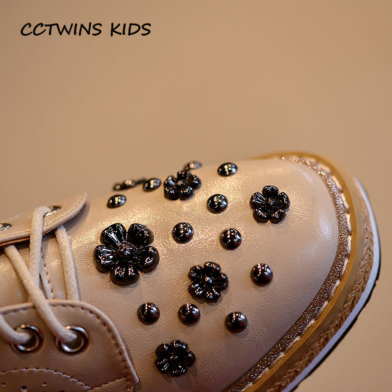 ba0971dcece CCTWINS KIDS 2018 Spring Children Black Stud Platform Baby Girl Fashion Pu  Leather Lace Up Toddler Brand Shoe G1681-in Leather Shoes from Mother   Kids  on ...