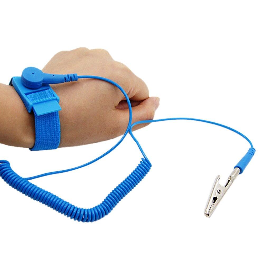 Ajustable antiestática pulsera electrostática descarga ESD Cable reutilizable Anti estática de la banda de muñeca correa de mano con Cable de tierra-in Guantes de seguridad from Seguridad y protección on AliExpress