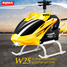 Syma W25 Mini Aereo Elicottero RC Radio Remote Control Elicottero con LED Lampeggiante Luce di Notte Giocattoli Per Il Ragazzo Regalo