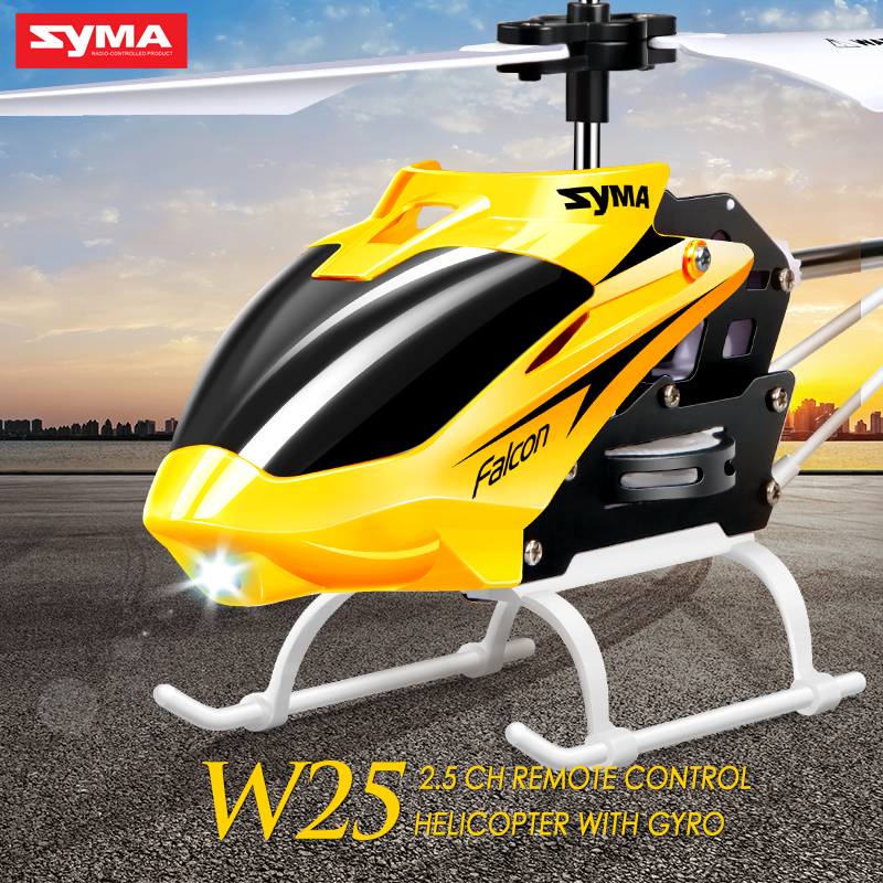 Syma W25 Mini RC Helicopter Aircraft Radio Remote Control Helicopter with Flashing LED Night Light Toys For Boy Gift-in RC Helicopters from Toys & Hobbies