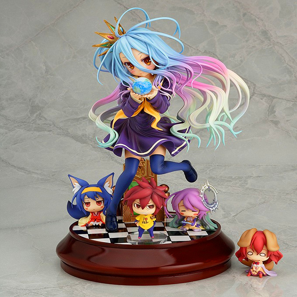 Lovely Cartoon Movie Action Figure Model Furnishing Articles Anime No Game No Life 2 Hand Toy Doll Kids Holiday Gift Collection Toys & Hobbies