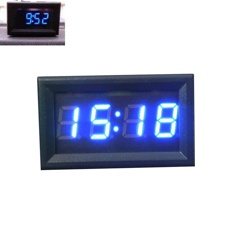 Hot New Arrival Car-styling Car Motorcycle Accessory 12V/24V Dashboard LED  Display Digital Clock Car decoration