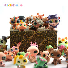 30PCS Littlest Action Figures Pet Toys Shop For Children Anime Story Animal Cat Pig Dog Figurine Collection Juguetes For Girl(China)