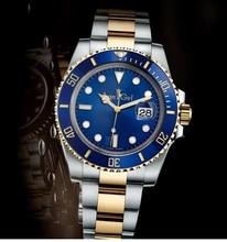 Marca de luxo Novos Relógios Mecânicos Automáticos dos homens Auto vento relógio de Pulso de Aço Inoxidável Preto Prata Ouro Azul AAA qualidade 40mm