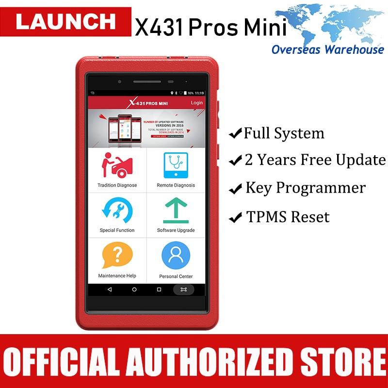 Lancio X431 Pro Mini Professionale Strumento di Diagnostica Auto per Tutti I Sistemi di Diagnostica Strumenti di Analisi Autoscanner Due Anni di Aggiornamento