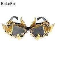 2017 барокко с металлическим цветком Солнцезащитные очки для женщин модные женские туфли негабаритных квадратные Солнцезащитные очки для же...