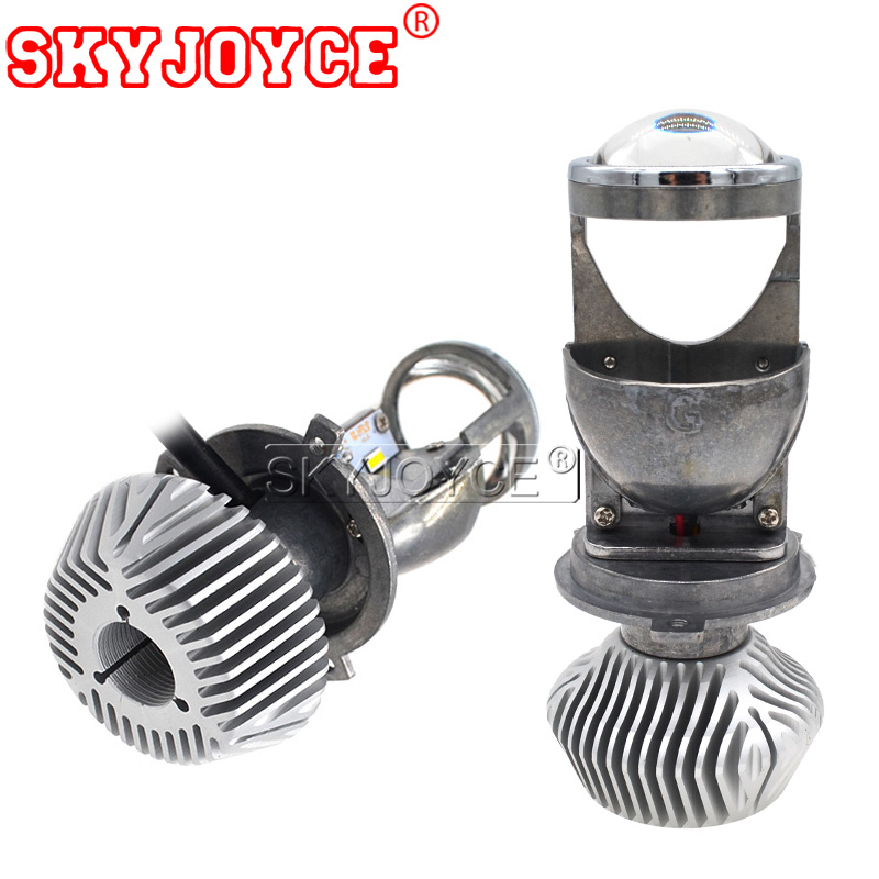 SKYJOYCE 35W 70W Mini H4 LED Projector Lens Bulb Car Styling LHD RHD H4 High Low