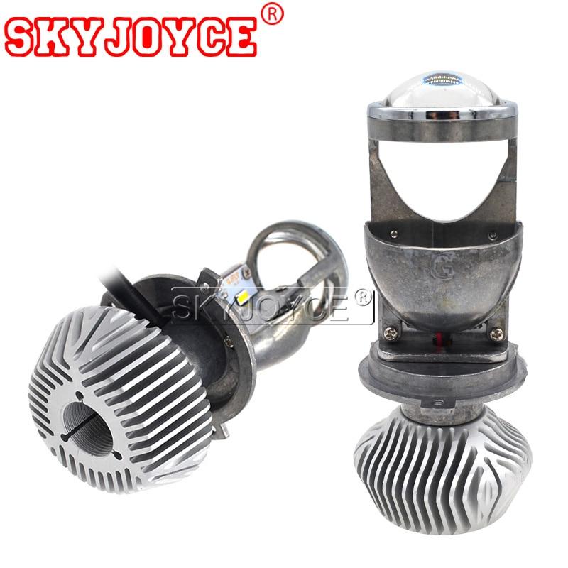 SKYJOYCE 35 W 70 W Mini H4 projecteur LED ampoule de voiture style LHD RHD H4 feux de croisement 12 V/24 V 5500 K blanc voiture phare LED H4