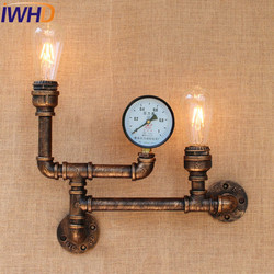 IWHD stylu Loft lampa rury wody przemysłowe Edison kinkiet ścienny metalowa ścienne w stylu Vintage oprawy oświetleniowe oświetlenie wewnętrzne antyczne u nas państwo lampy
