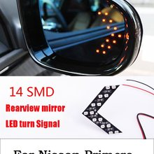 car styling 2017 2Pcs 14SMD Arrow Panel LED Rear View Mirror Indicator Turn Sign