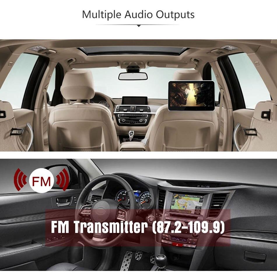 Image 4 - سوبر سليم 10 بوصة سيارة مسند الرأس الوسائط المتعددة MP4 MP5 مشغل فيديو HD شاشة رصد مع USB SD HDMI AV فتحة و FM الارسال-في شاشات السيارات من السيارات والدراجات النارية على AliExpress