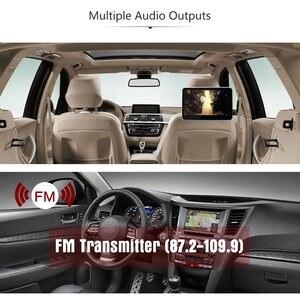Image 4 - Süper ince 10 inç araba kafalık multimedya MP4 MP5 Video oynatıcı HD ekran monitör ile USB SD HDMI AV yuvası ve FM verici