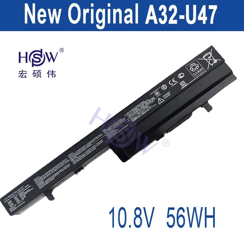 HSW New Original  A32-U47 Laptop Battery For A41-U47 A42-U47 U47 U47A U47C Q400 Q400C R404 R404VC  bateria akku