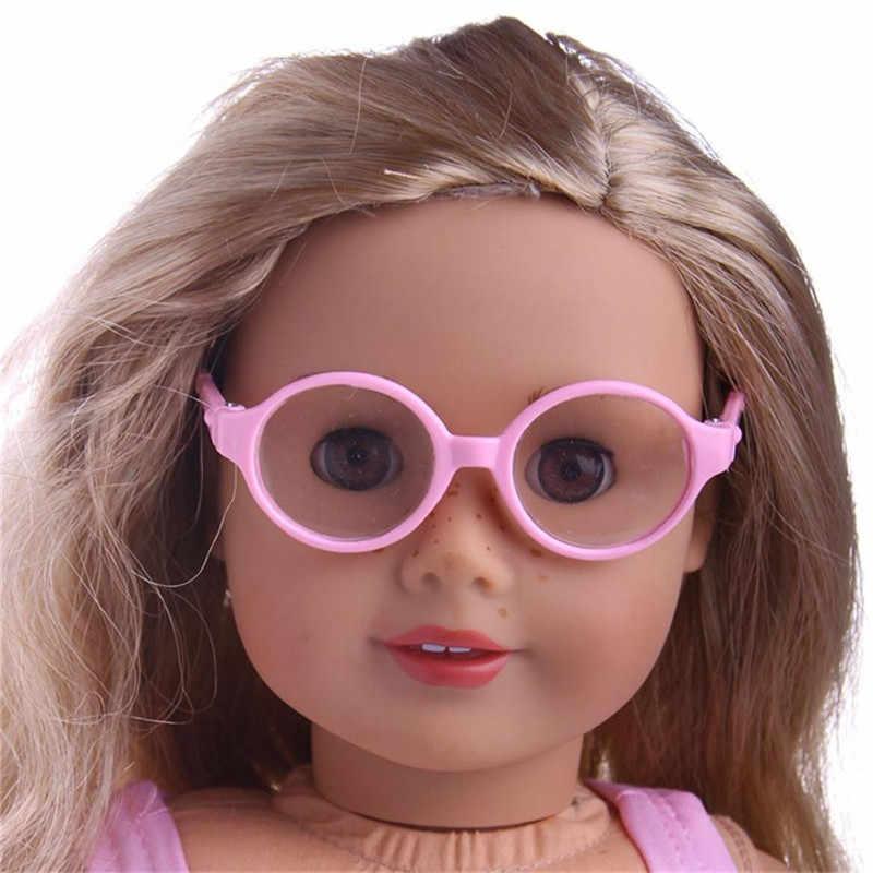 キッズ子供ベビーおもちゃスタイリッシュなプラスチックフレームサングラスのための 18 インチ私たちの世代人形人形アクセサリー