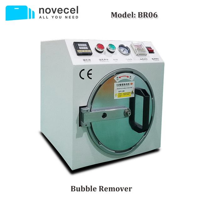 Novecel BR06 Bubber Remover Machine 220V / 110V for LCD Screen Repairing Stainless Steel Chamber Upgraded version