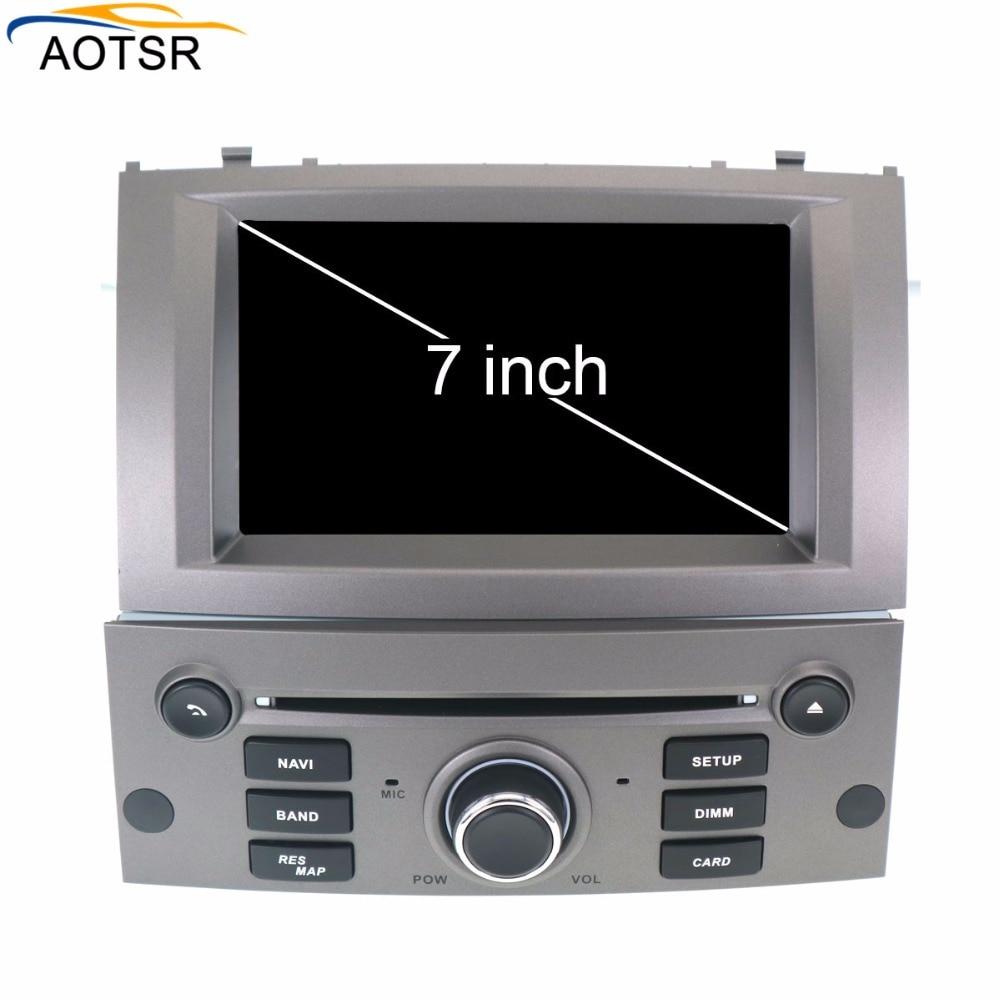 Ips Android 8,0 dvd плеер автомобиля головное устройство для peugeot 407 2010 2004 Авто Радио FM стерео gps Навигация Аудио Видео восьмиядерный BT