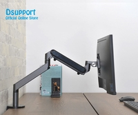 Monitor Holder Desk Stand Height Adjustable Aluminum Single Arm Gas Spring TV Mount Fits Up to 32 LCD Monitor Screen OZ 1