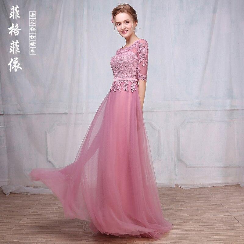 Black/Royal Blue Bridesmaid Dress 2017 Lace Applique 3/4 Sleeves ...