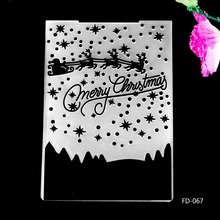 2017 New Arrival Scrapbook Christmas Deers design DIY Paper cutting dies SCRAPBOOKING PLASTIC EMBOSSING FOLDER EF01
