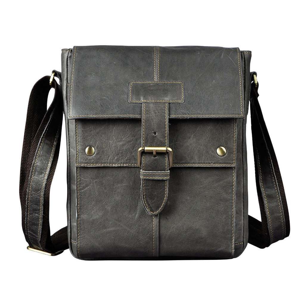 Fashion Real Leather Male Casual Messenger bag Satchel Cowhide Design Crossbody One Shoulder bag School Book Bag For Men 8571g aerlis brand men handbag canvas pu leather satchel messenger sling bag versatile male casual crossbody shoulder school bags 4390