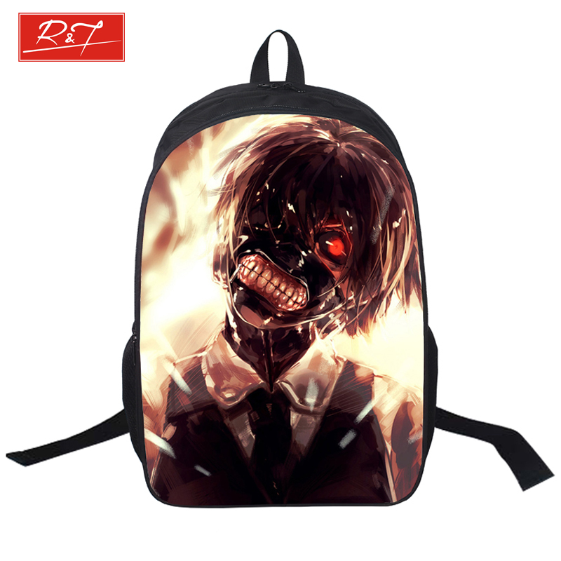 Anime Tokyo Ghoul Printing Backpack Young Men Shoulder Bag Boys Students School Bags For Teenagers Laptop Children Daypacks