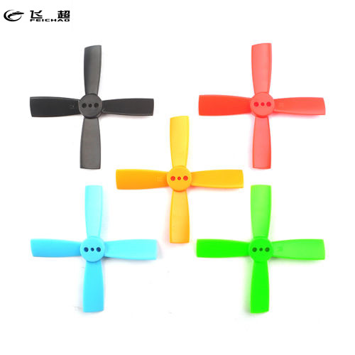 Feichao 10 Pairs Props <font><b>2035</b></font> 50mm 4 Blade ABS <font><b>Propeller</b></font> 1.5mm Mounting Hole For 80-110 FPV Racer Frame RC Drone Helicopter image