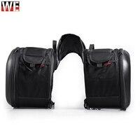 2pcs Universal Motorcycle Saddlebag Tail Bag Luggage Bag Knight Helmet Bag Motorbike Parts for Honda for Suzuki Kawasaki