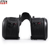 2pcs Universal Motorcycle Saddlebag Tail Bag Luggage Bag Knight Helmet Bag Motorbike Parts for Honda for Suzuki Kawasaki