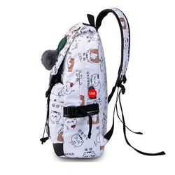 Kobiet uczeń mody torba szkolna wodoodporny nylon Ms plecak na laptopa USB kobieta podróży plecak dywan tas szkoły meisjes kinderen 3