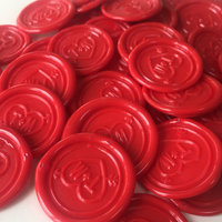 Custom Self Adhesive Wax Seal Stickers 23 Color Available