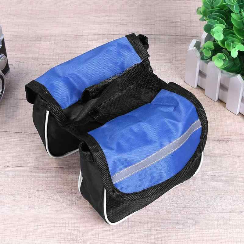 MTB Road Bicycle Upper Tube Frame Mount Pannier Phone Camera Storage Bike Bag Riding Both Side Double Pouch Cycling Bicycle Bags