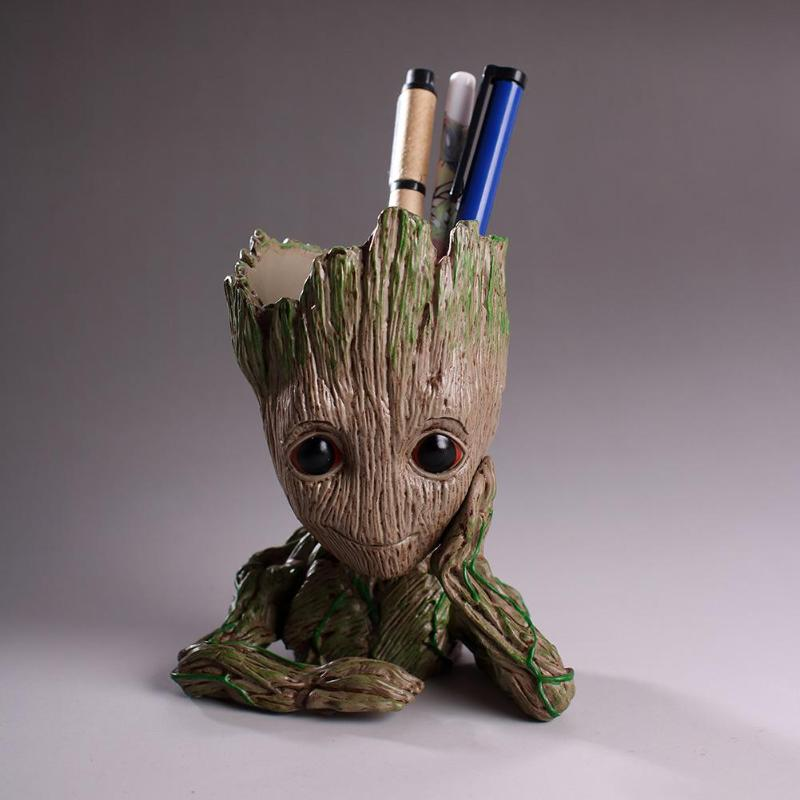 Guardians of The Galaxy Flowerpot Baby Action Figures Cute Model Toy Pen Holder Pot Best Christmas Gifts For Kids Hot Home Decor in stock brinquedos guardians of the galaxy mini cute model action and toy figures cartoon movies and tv p313