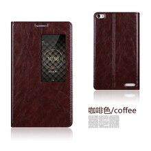 Для huawei honor x2 оригинальный натуральная кожа смарт окно флип стенд cover case для huawei mediapad x2 роскошный мобильный телефон мешок