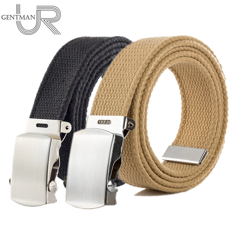 New Japan High Quality Canvas Belt Men And Women Jeans Belt Top Casual Luxury Strap 3 Colors 130cm Long Metal Buckle Belts