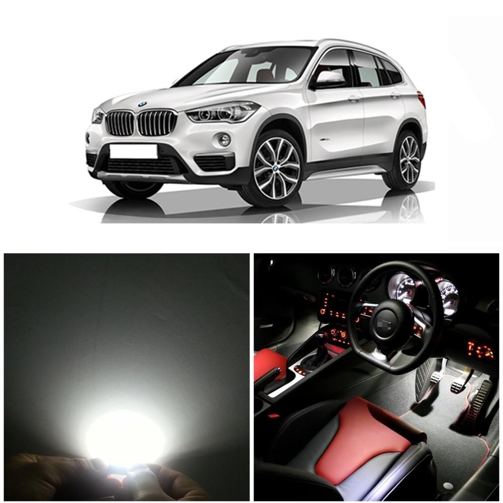 WLJH 13pcs Canbus Pure No Error LED Car lighting Light for BMW X1 E84 LED Interior light LED Kit 2010 2011 2012 2013 2014 2015