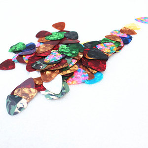 Image 2 - 10/20 Pcs New Acoustic Picks Plectrum Celluloid Electric Smooth Guitar Pick Accessories 0.46mm 0.71mm 0.96mm