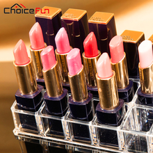 24 Lipstick Holder Display Stand Clear Acrylic Cosmetic Organizer