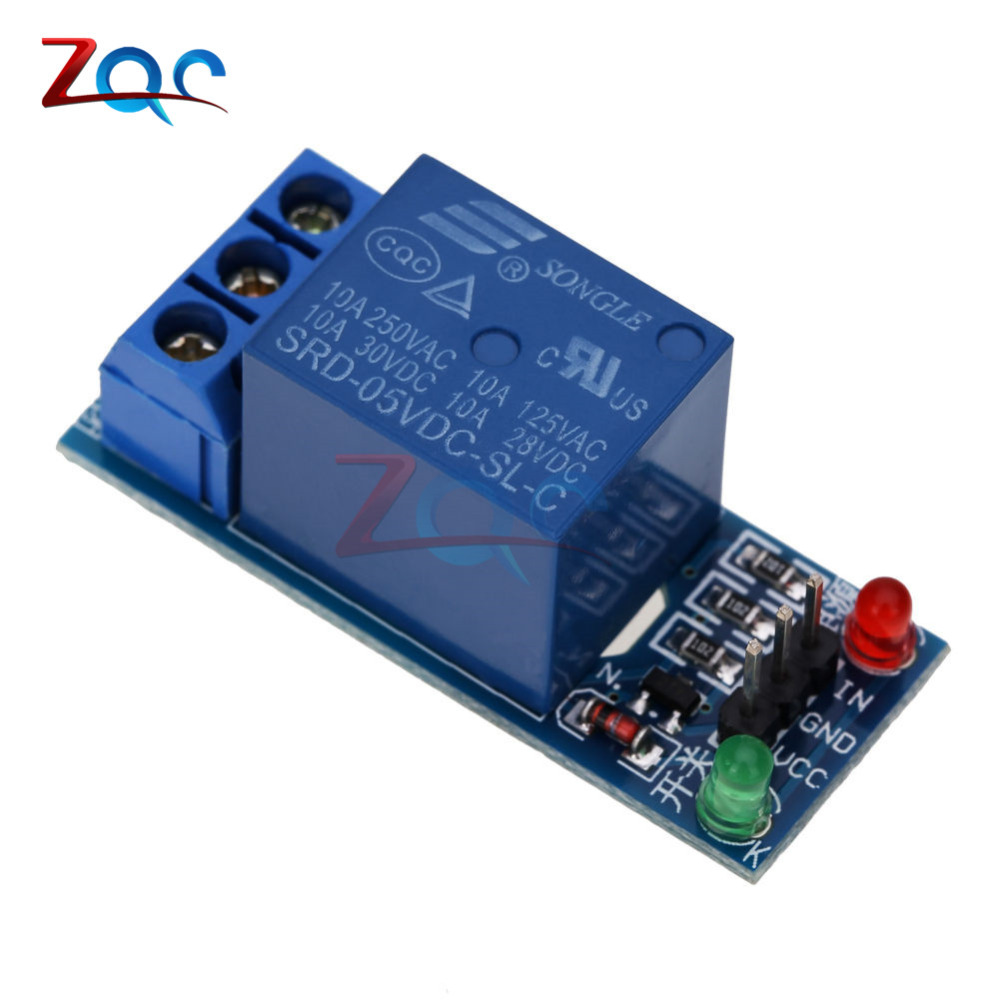 1 Channel Relay Module Interface Board Shield For Arduino 5V Low Level Trigger One PIC AVR DSP ARM MCU DC AC 220V relay shield v2 0 4 channel 5v relay swtich expansion drive board for arduino uno r3 development board module one