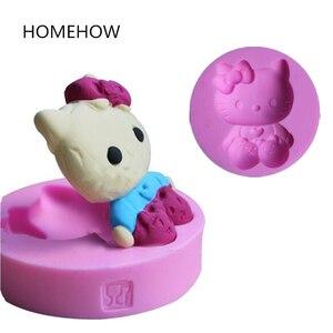 Силиконовая форма для торта Hello Kitty, диаметр 7 см * T 1,7 см, 1 шт./лот