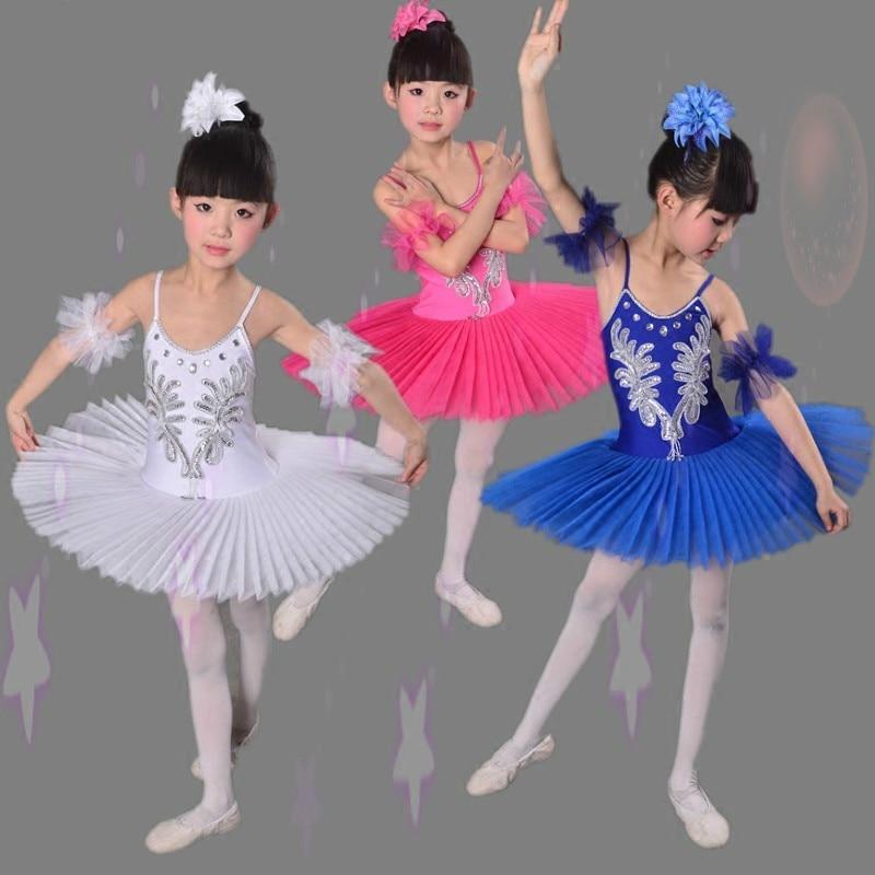 Nueva Llegada de Los Niños Vestido de Tutu de Ballet Fluffy White - Novedad