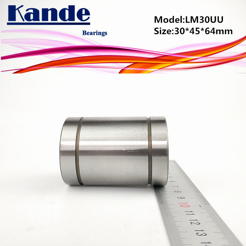 Kande Bearings LM30UU 2pcs LM30UU Linear Bearing  30x45x64mm LM30 UU Linear Bearing LM30