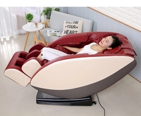 zero gravity wood frame ABS plastic armrest 8 point balls massage chair with foot back leg massager