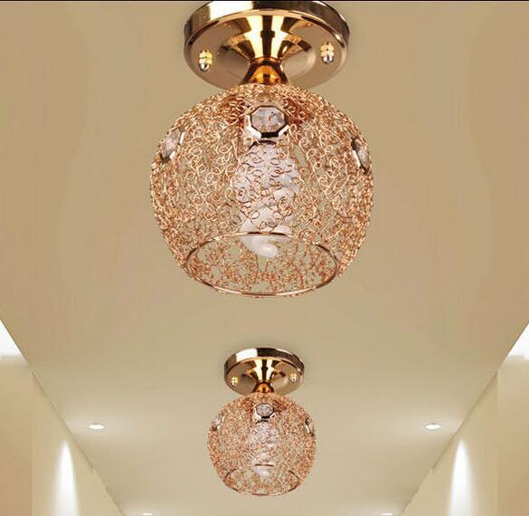 New Arrival Gold Chandelier Ac85 265v Lighting Fixtures Hallway Re De Crystal