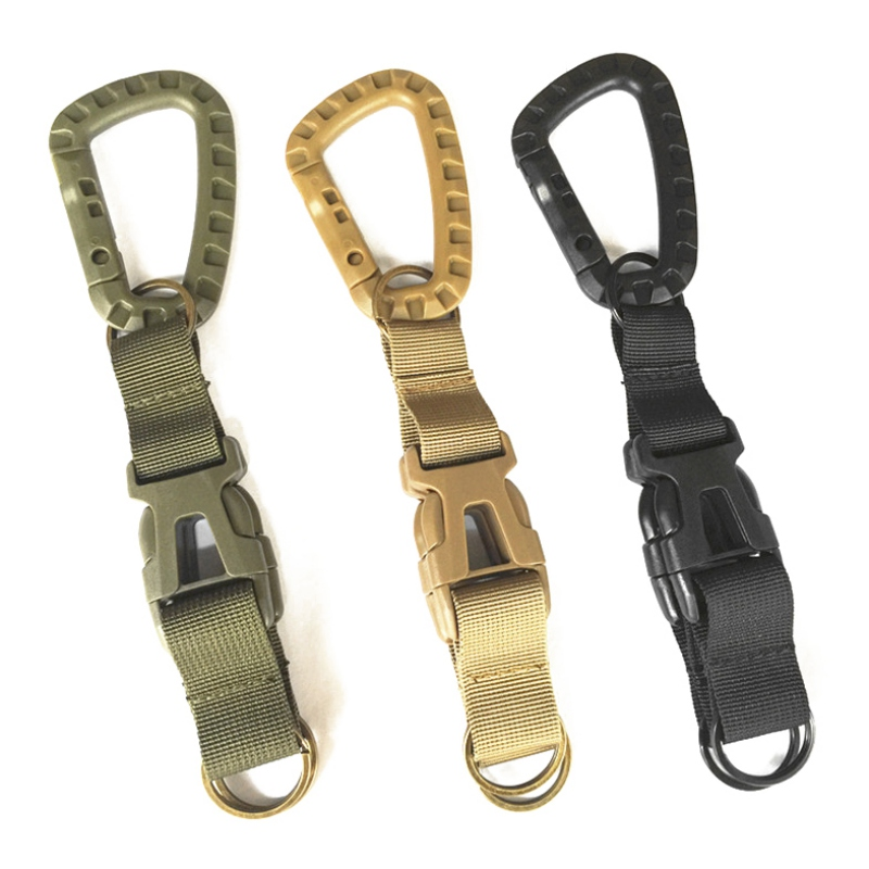 Outdoor Sports Keychain Carabiner MOLLE Sturdy Webbing Special Service Belt Hook Tactical BeltOutdoor Sports Keychain Carabiner MOLLE Sturdy Webbing Special Service Belt Hook Tactical Belt