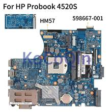 KoCoQin האם מחשב נייד עבור HP Probook 4520S 4720S HM57 Mainboard 598667 001 598667 501 H9265 1 48.4GK06.041