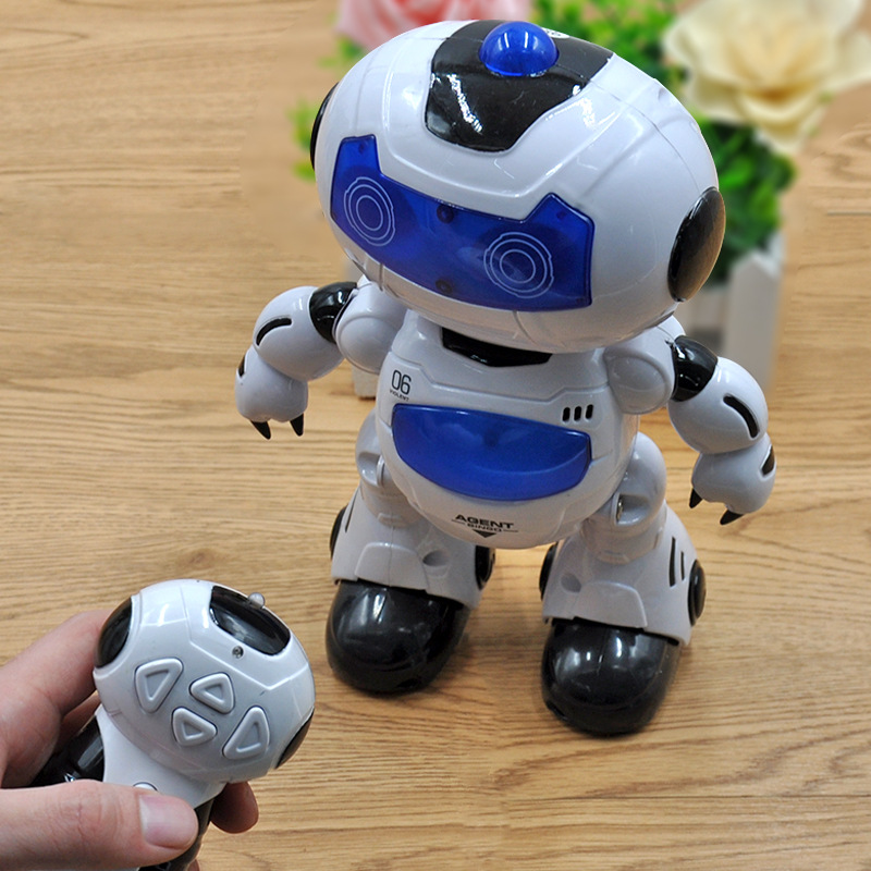 RC Robot Toy Remote Control Electronic Toy Pet Walking Dancing Lightning Musical Toys For Children Kids Boy Gift kids toy space dancing robot lz444