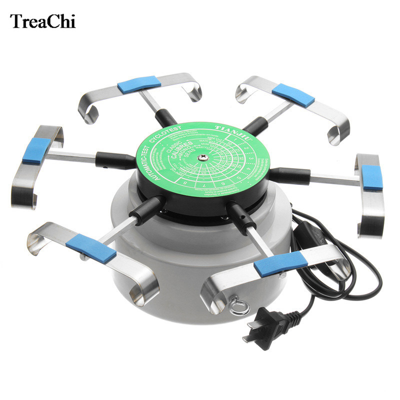 Professional US Standard Automic Test Cyclotest 110V 220V Watch Repair Tool 6 Arms Watch Tester Machine