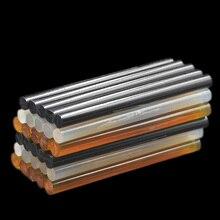 10 шт., 7 мм x 100 мм, термоклеевые палочки для клеевого пистолета, чехол для телефона, альбом, аксессуары для ремонта, клей, 7 мм, прозрачный черный