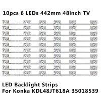 Новая светодиодная подсветка для бара для KONKA KDL48JT618A/KDL48SS618U 35018539 6 светодиодный S (6 V) 442 мм