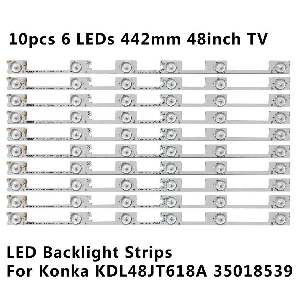 Nouvelle bande de barre de rétro-éclairage LED pour KONKA KDL48JT618A/KDL48SS618U 35018539 6 LED S (6 V) 442mm